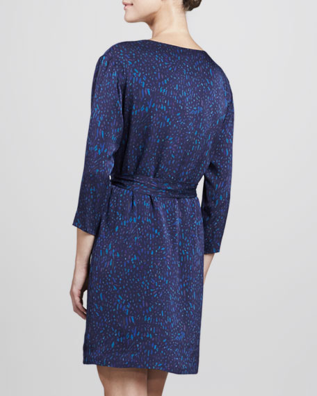 Kinley Galba Printed Silk Dress