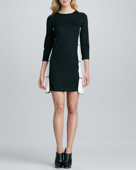 Heather Birdcage Ponte Dress