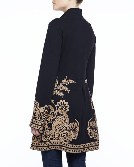 Mina Embroidered Military Coat