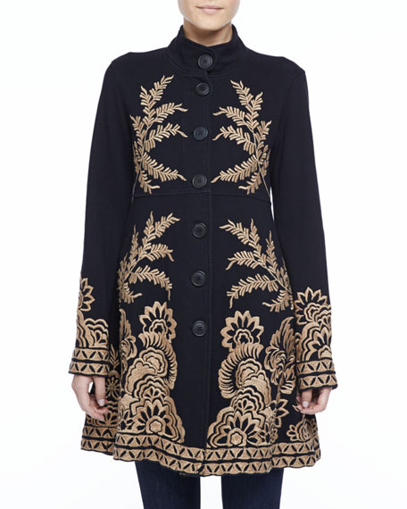 Mina Embroidered Military Coat