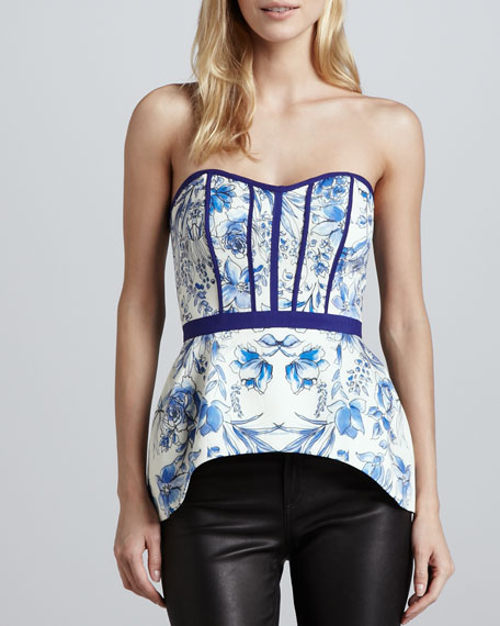 Hold On Floral-Print Bustier