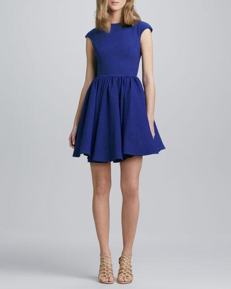 Flared Cap-Sleeve Dress