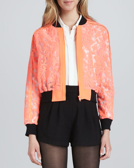 """Locked Up"" Neon Lace Jacket"