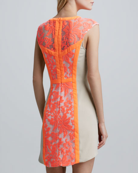 Into the Flame Lace Dress