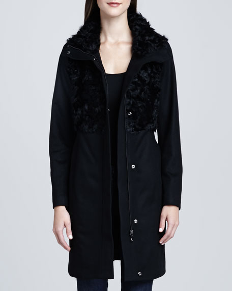 Anna Mixed-Media Fur Coat