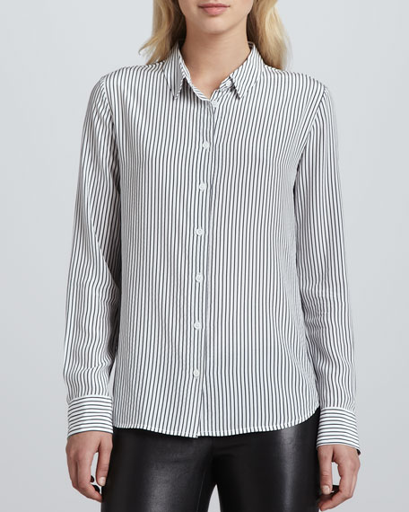 Audrey Linear Division Blouse, Peacoat