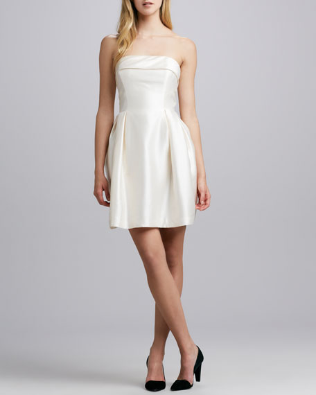 Strapless Party Dress, Ivory