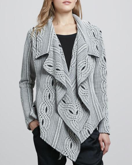 Taya Drape-Front Sweater