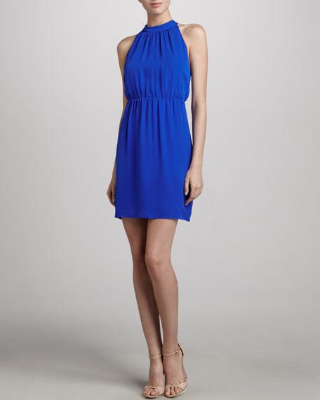 Avrex Sleeveless Silk Dress, Sapphire