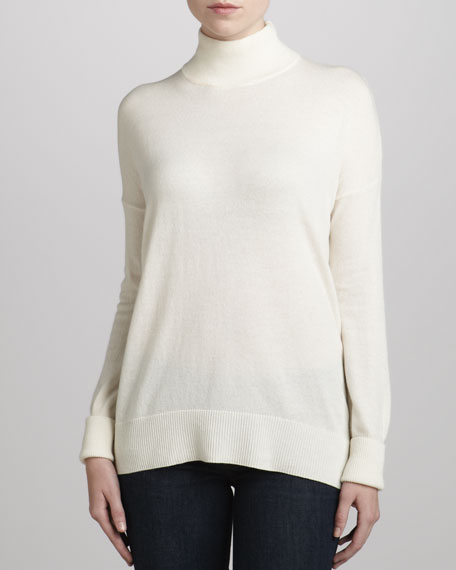 Sutton B Cashmere Sweater, Ice White
