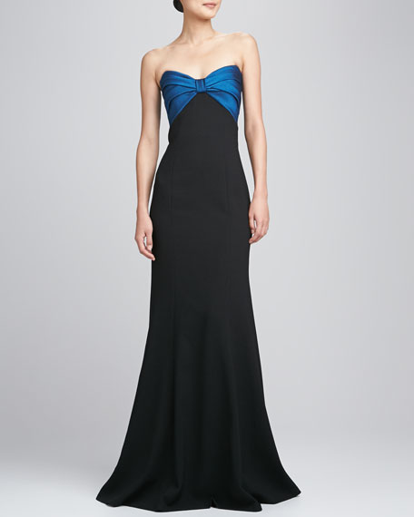 Strapless Ruched Bodice Gown