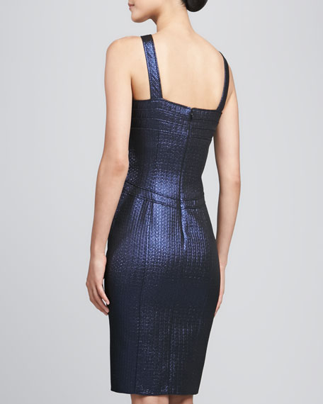 Metallic Halter Cocktail Dress