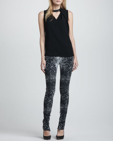 Python-Print Stretch Leggings
