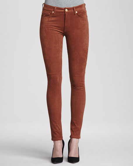 The Sueded Skinny Jeans, Sueded Rust