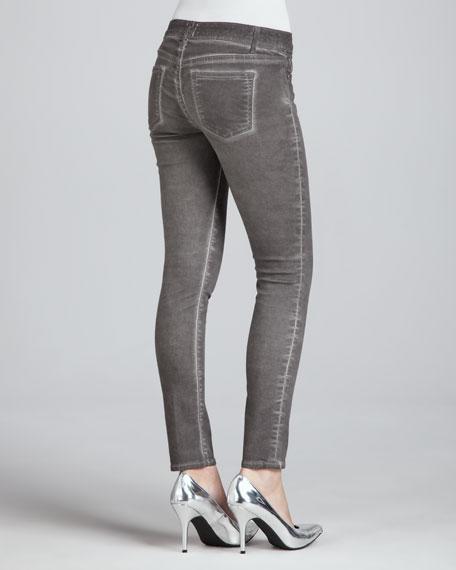 Skinny Ankle Peg Jeans, Oil Dye Earl