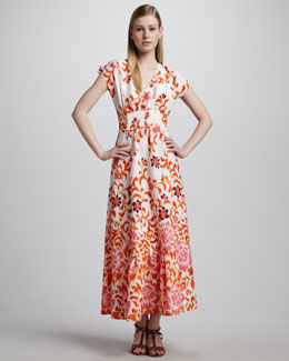 Indikka Floral Peasant Maxi Dress