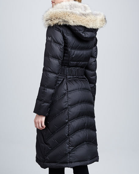 Addison Fur-Trim Puffer Coat