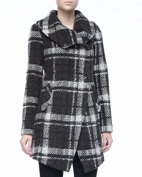 Amelia Plaid Boucle Coat