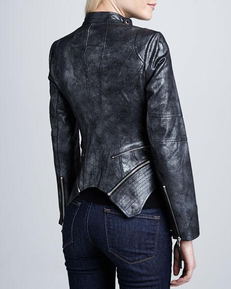 Moto Leather Double-Zip Jacket