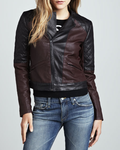 Cami Seamstress Two-Tone Motorcycle Jacket