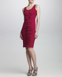 Armani Collezioni Origami-Gathered Milano Jersey Dress