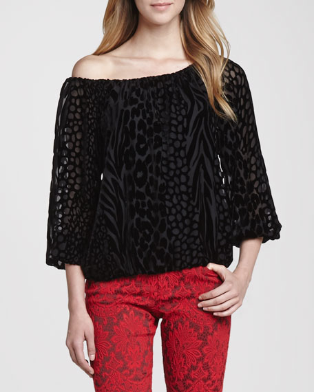Hayzel Sheer Lace Blouse