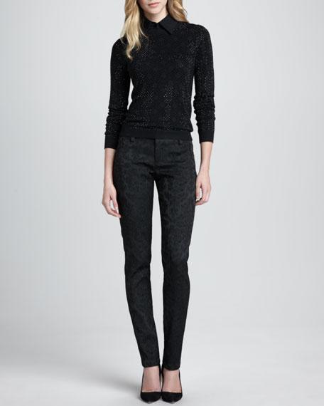 Brocade Skinny Pants