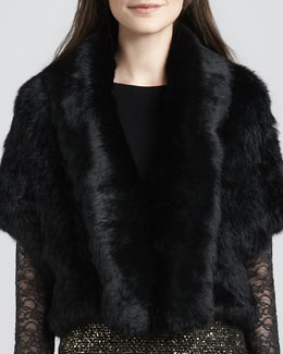 Alice + Olivia Olsen Rabbit-Fur Jacket