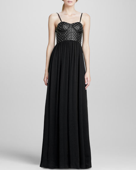 Ceil Studded-Corset Gown
