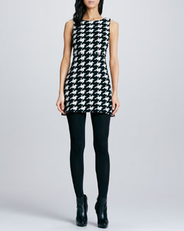 Alice + Olivia Everleigh Houndstooth Knit Dress