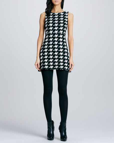 Everleigh Houndstooth Knit Dress