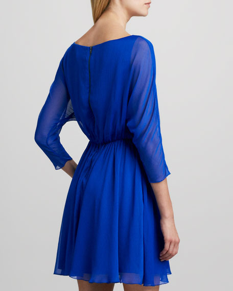 Kathryn Dolman-Sleeve Dress