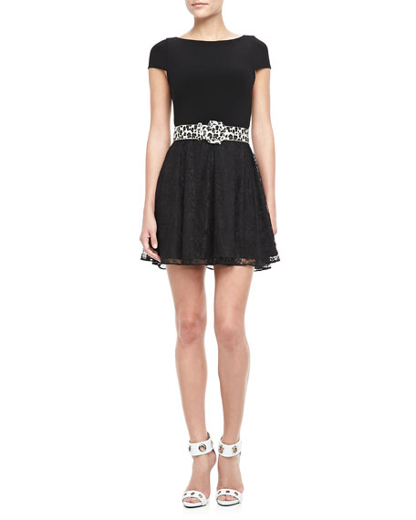 Ruey Lace-Skirt Dress