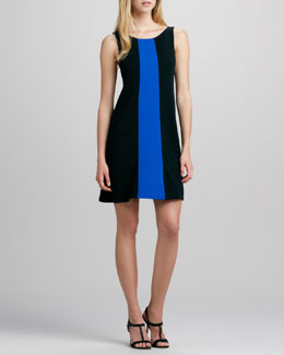 Alice + Olivia Maris Contrast-Panel Knit Dress