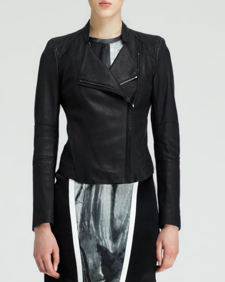 Wither Washed Leather Jacket