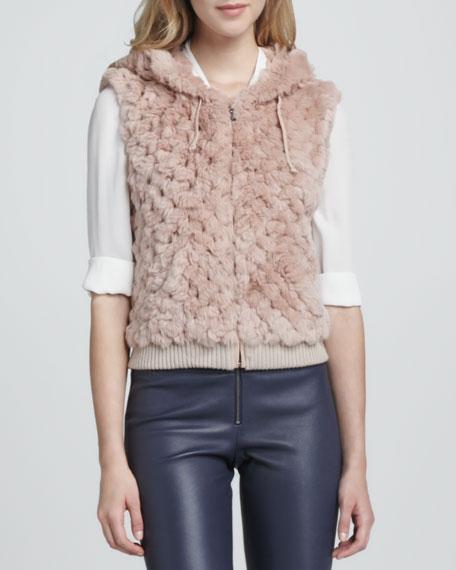 Jael Hooded Fur Vest