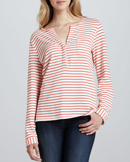 Venicia Striped Knit Top