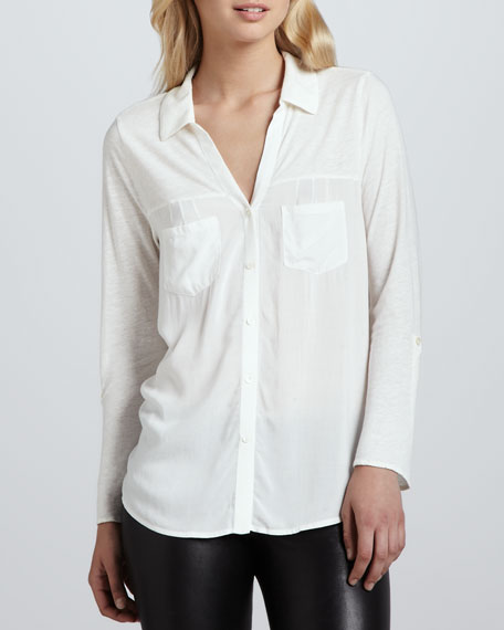 Brady Button-Front Blouse