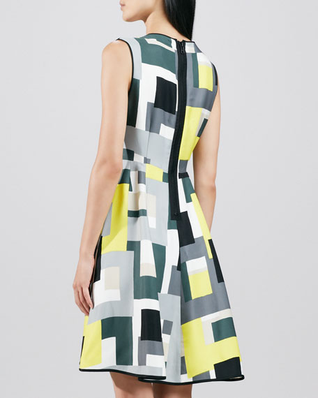 carol abstract-print dress