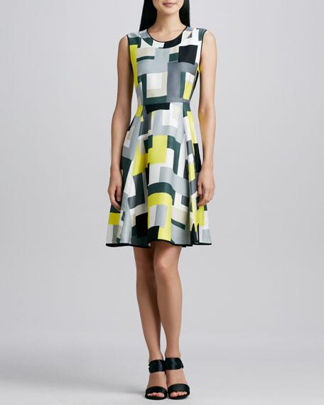 carol abstract-print dress