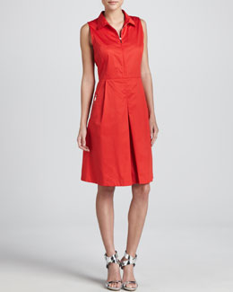 Armani Collezioni Sleeveless Zip-Front Stretch Dress, Grenadine