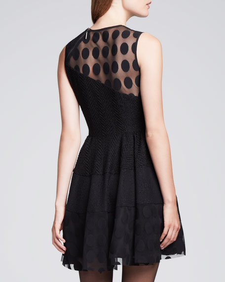 Parisienne Sheer Dotted Dress