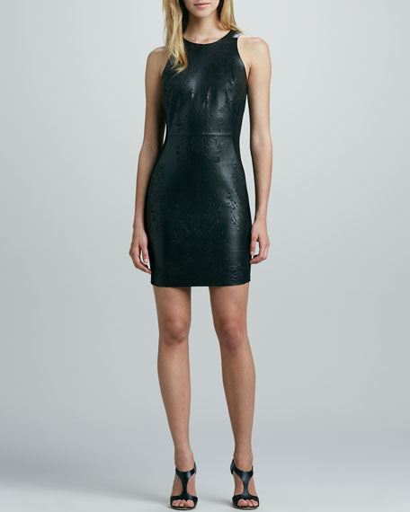 Begonia Laser-Cut Leather Dress