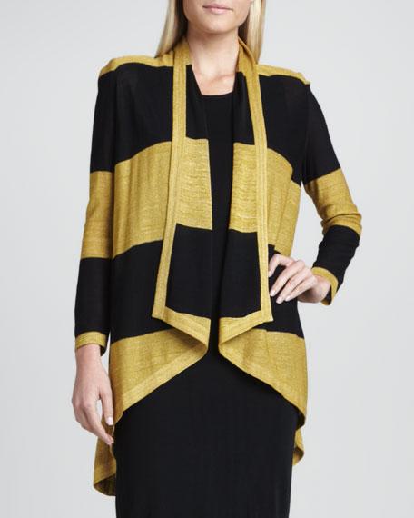 Tiffany Striped High-Low Cardigan, Women's