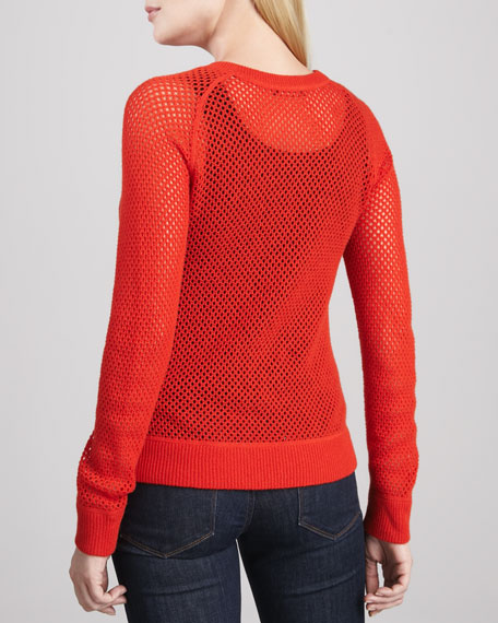 Open Mesh Cashmere Sweater