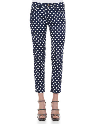 broom dot capri pants