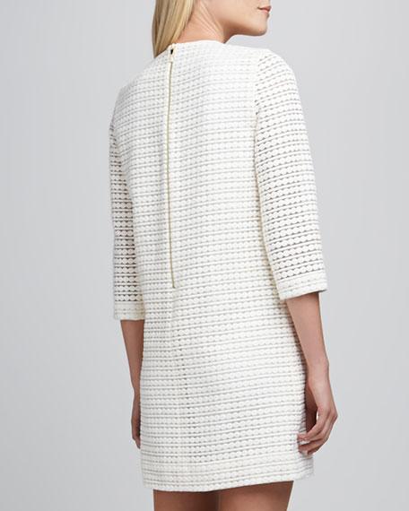 ashby jewel-neck embroidered dot dress