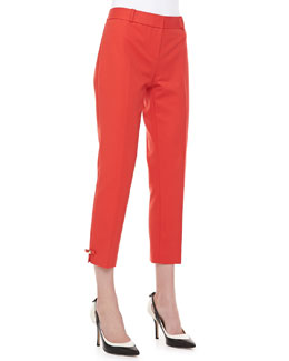 kate spade new york jackie bow-side capri pants
