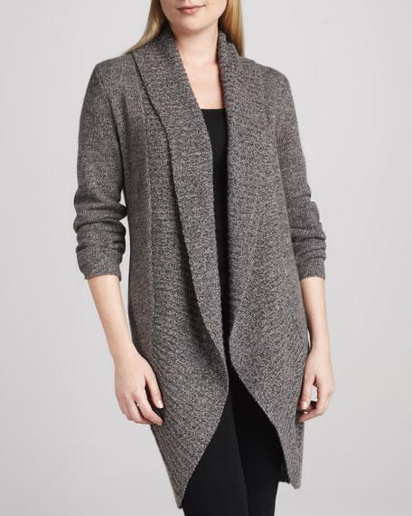 Long Tweed Cashmere Cardigan