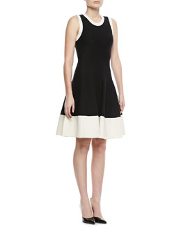 kate spade new york quincy fit-&-flare sweater dress